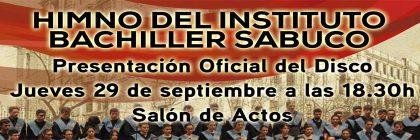 Presentación del disco Himno del Instituto Bachiller Sabuco